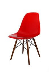SK DESIGN KR012 CHAIR CLEAR RED WENGE