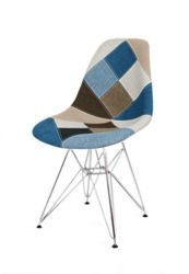 SK DESIGN KR012 TAPICERATED CHAIR PATCHWORK 6 CHROME