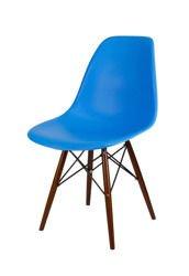 SK Design KR012 Blue Chair, Wenge legs