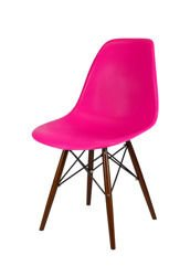 SK Design KR012 Dark Pink Chair Wenge legs