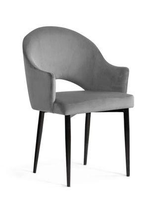 GODA chair gray / black leg / BL14