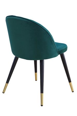 Chair MONZA green velvet / black-gold leg