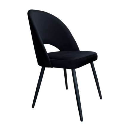Black upholstered LUNA chair material MG-19