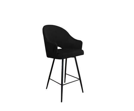 Black upholstered armchair DIUNA armchair material MG-19