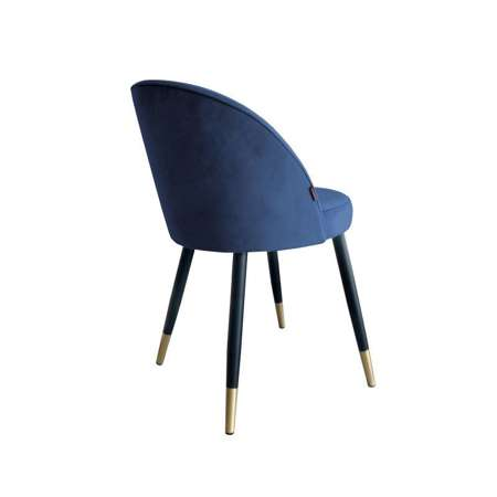 Blue upholstered CENTAUR chair material MG-33 with golden leg