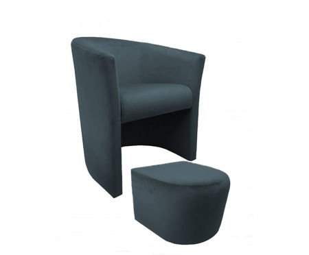 CAMPARI armchair with footrest Bluvel 14
