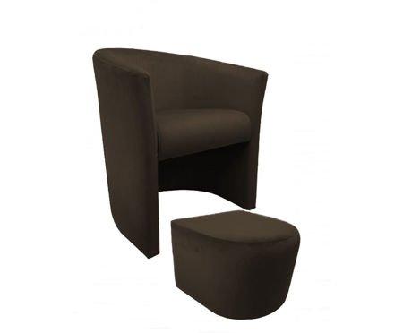 CAMPARI armchair with footrest Magic Velvet 05