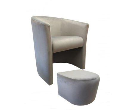 CAMPARI armchair with footrest Magic Velvet 39