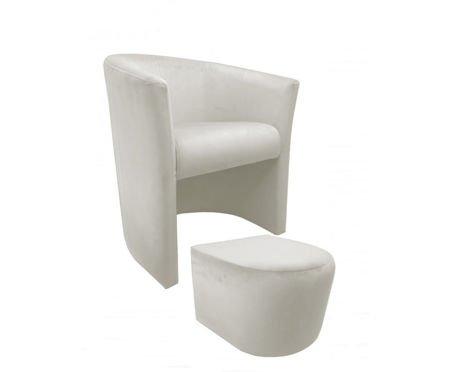 CAMPARI armchair with footrest Magic Velvet 50