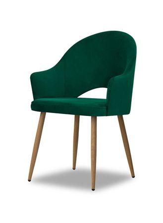 Chair GODA green / leg oak / BL78