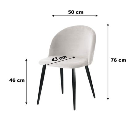Chair KALIPSO black material MG-19