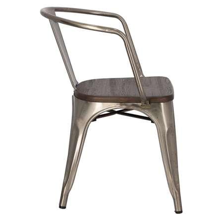 Chair Paris Arms Wood brushed pine metal