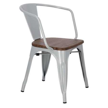 Chair Paris Arms Wood gray pine nut