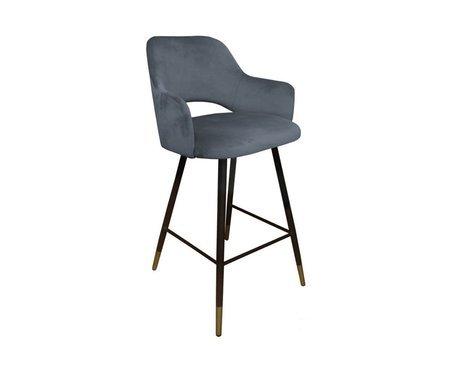 Dark gray upholstered STAR hoker material BL-14 with golden leg