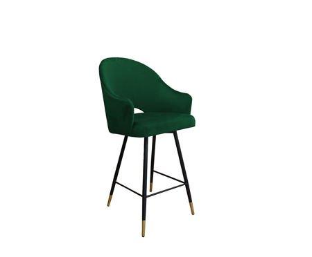 Dark green upholstered armchair DIUNA armchair material MG-25 with golden leg