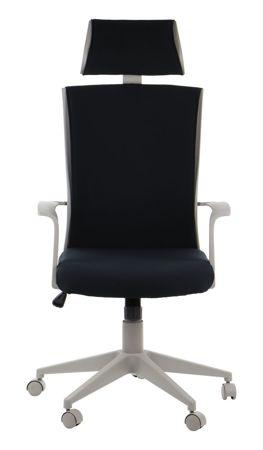 Fotel obrotowy BORNHOLM Czarny/Szary