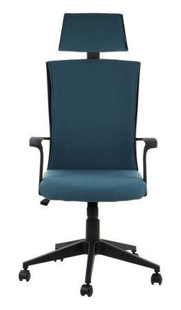 Fotel obrotowy BORNHOLM Niebieski/CZARNY