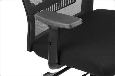 Fotel obrotowy TINOS Czarny/Szary/Aluminium