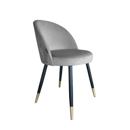 Gray upholstered CENTAUR chair material MG-17 with golden leg
