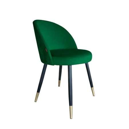 Green upholstered CENTAUR chair material MG-25 with golden leg
