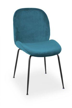 JOY chair velvet maritime / black leg