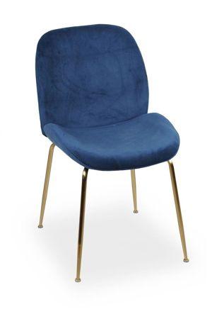 JOY velvet navy chair / gold leg