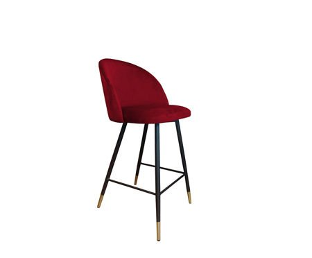 KALIPSO bar stool red material MG-31 with golden leg