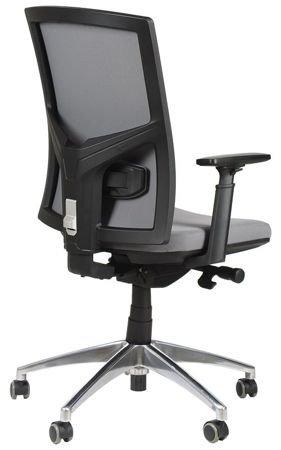 Krzesło Fotel obrotowy Korfu - szary aluminium
