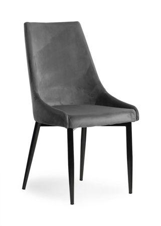LUIS VELVET chair gray / black leg