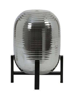Nibali table lamp smoked / black wood