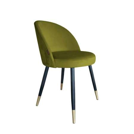 Olive upholstered CENTAUR chair material BL-75 with golden leg