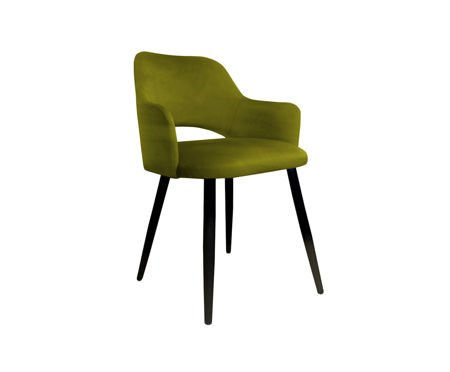 Olive upholstered STAR chair material BL-75