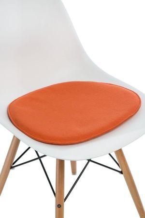 Poduszka na krzesło KR012 pomarańczowy