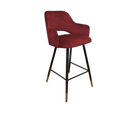 Red upholstered STAR hoker material MG-31 with golden leg
