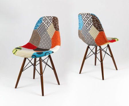 SK DESIGN KR012 TAPICERATED CHAIR PATCHWORK 2 WENGE