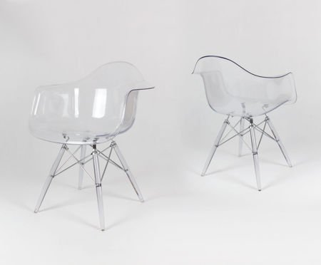 SK DESIGN KR012F CLEAR ARMCHAIR CLEAR