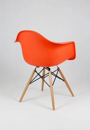 SK DESIGN KR012F ORANGE ARMCHAIR BEECH