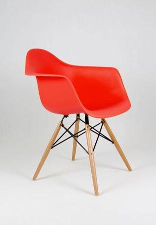 SK DESIGN KR012F RED ARMCHAIR BEECH