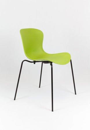 SK Design KR019 Green Chair on Metal Frame