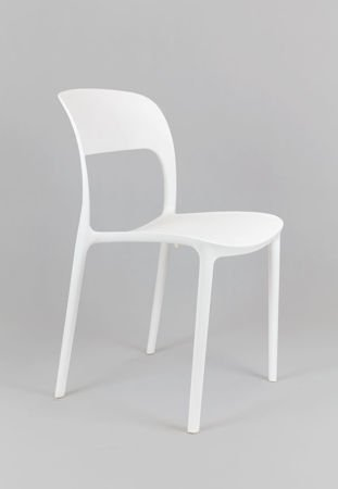 SK DESIGN KR022 WHITE POLIPROPYLENE CHAIR UFO