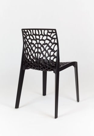 SK Design KR026 Black Openwork Polypropylene Garden Chair