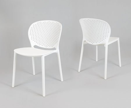 SK Design KR033 White Polypropylene Chair