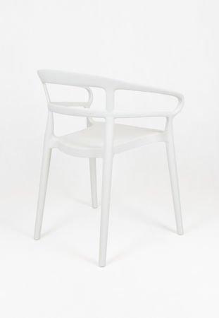SK DESIGN KR063 WHITE POLIPROPYLENE CHAIR