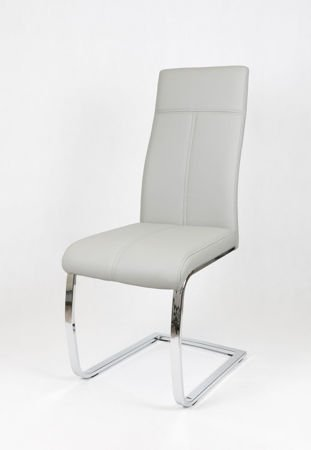 SK DESIGN KS028 Synthetic lether chair with chrome rack
