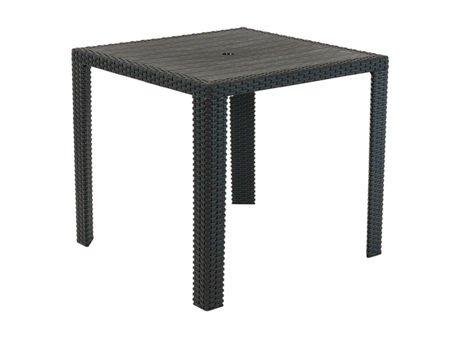 SK DESIGN ST14 BLACK TABLE 80 x 80 cm, TECHNORATTAN