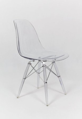 SK Design KR012 Clear Chair, Clear legs