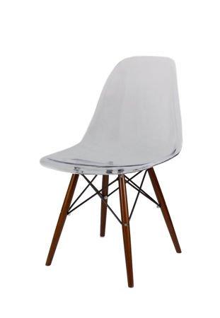 SK Design KR012 Clear Chair, Wenge legs