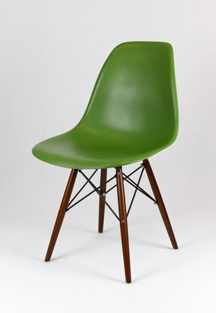 SK Design KR012 Dark Green Chair Wenge