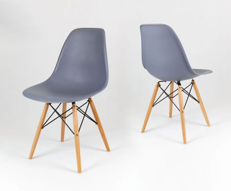 SK Design KR012 Dark Grey Chair Beech