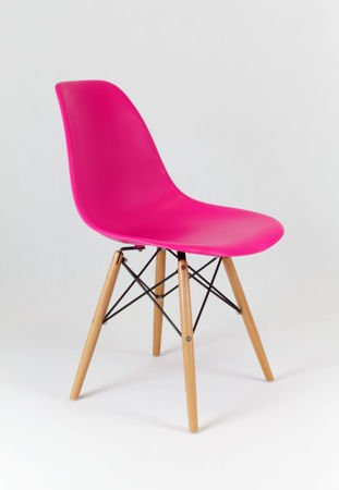 SK Design KR012 Dark Pink Chair Beech